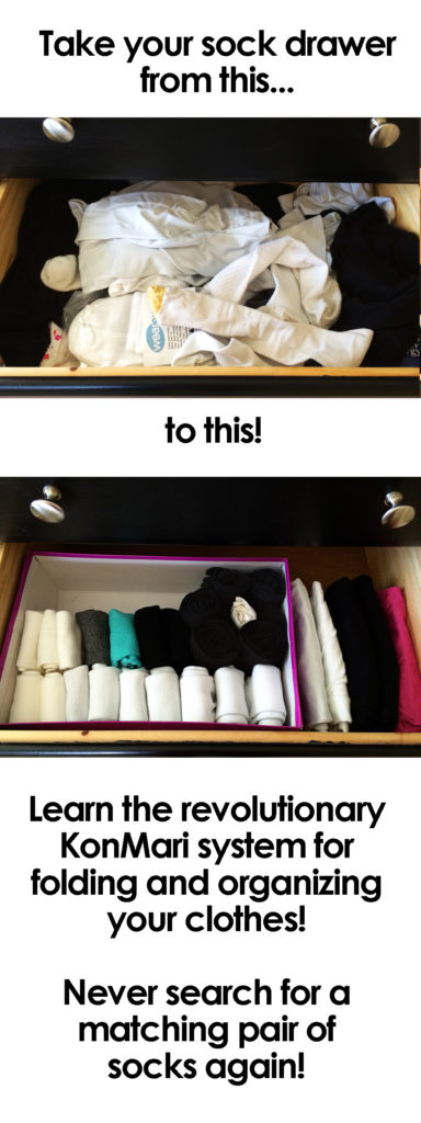Does your sock drawer look like a disaster? Organize it the KonMari way and never have to hunt for a matching pair again!