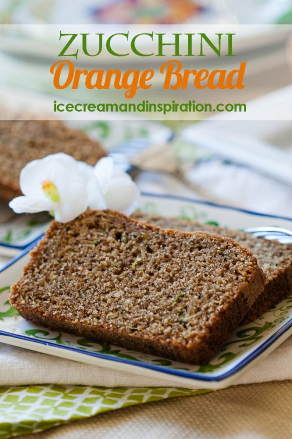 This Zucchini Orange Bread is made with whole wheat flour and orange essential oil. It's the healthiest zucchini bread you will ever eat!
