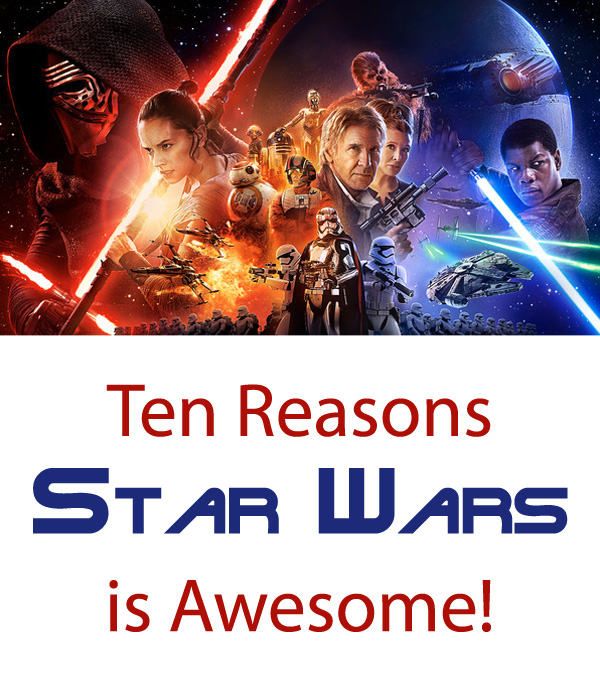 There are so many reasons to love the whole Star Wars Franchise! Find out my Top Ten, plus get recipes for your Star Wars Marathon Party!