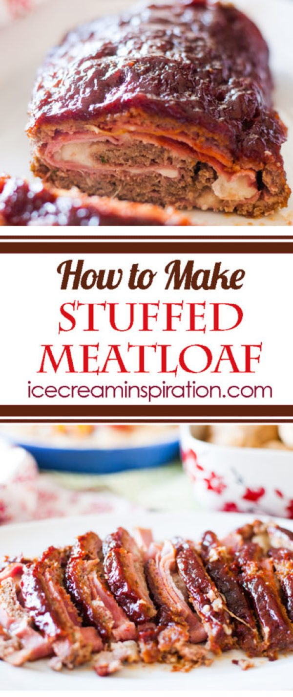 Follow this tutorial to learn how to make easy mozzarella cheese and ham stuffed meatloaf.