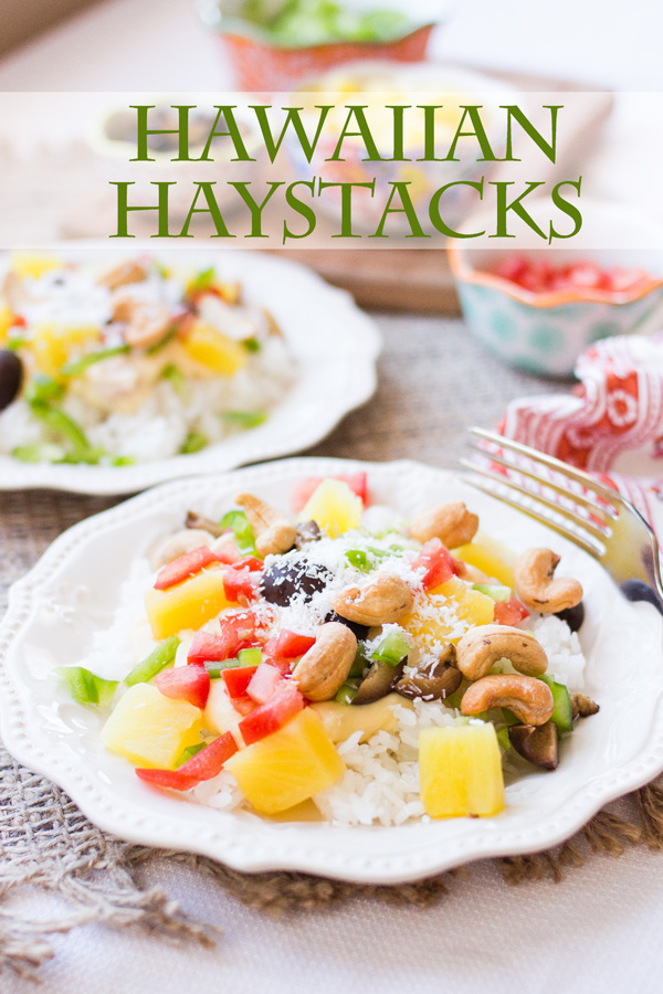 Hawaiian Haystacks made quickly and easily by three new inventions from OXO!