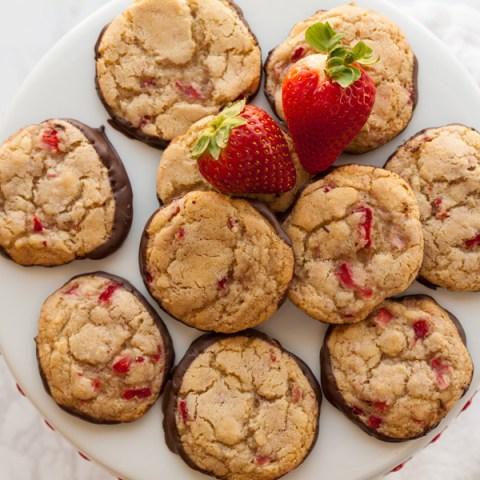 Chocolate Strawberry Cookies
