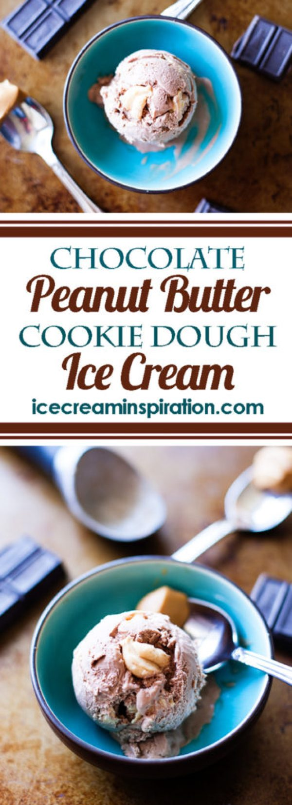 Chocolate Peanut Butter Cookie Dough Ice Cream. Rich chocolate ice cream with creamy peanut butter balls nestled inside. Chocolate ice cream. Peanut butter ice cream. Reeses ice cream.