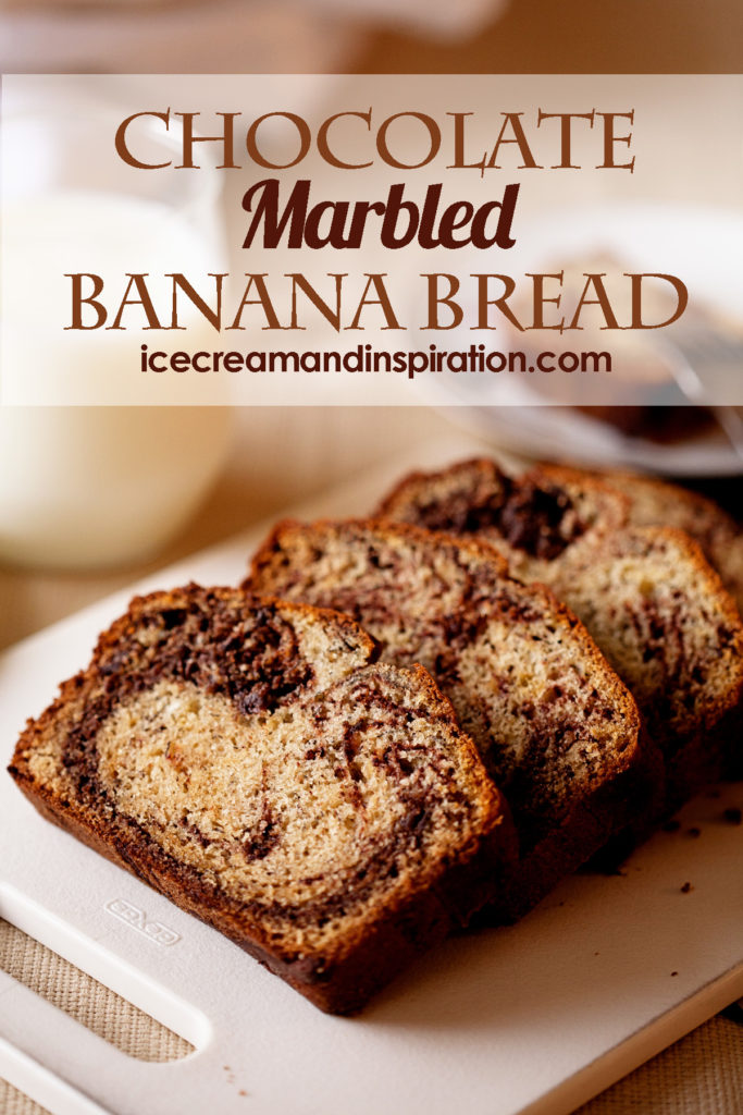 This Chocolate Marbled Banana Bread is classic banana bread with a delicious twist! Chocolate Banana Bread