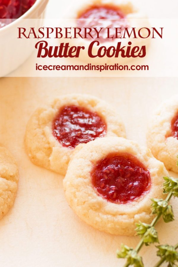 Dress up your lemon butter cookies with some gorgeous, tasty raspberry jam and zesty lemon! This recipe for Raspberry Lemon Butter Cookies is the best ever!