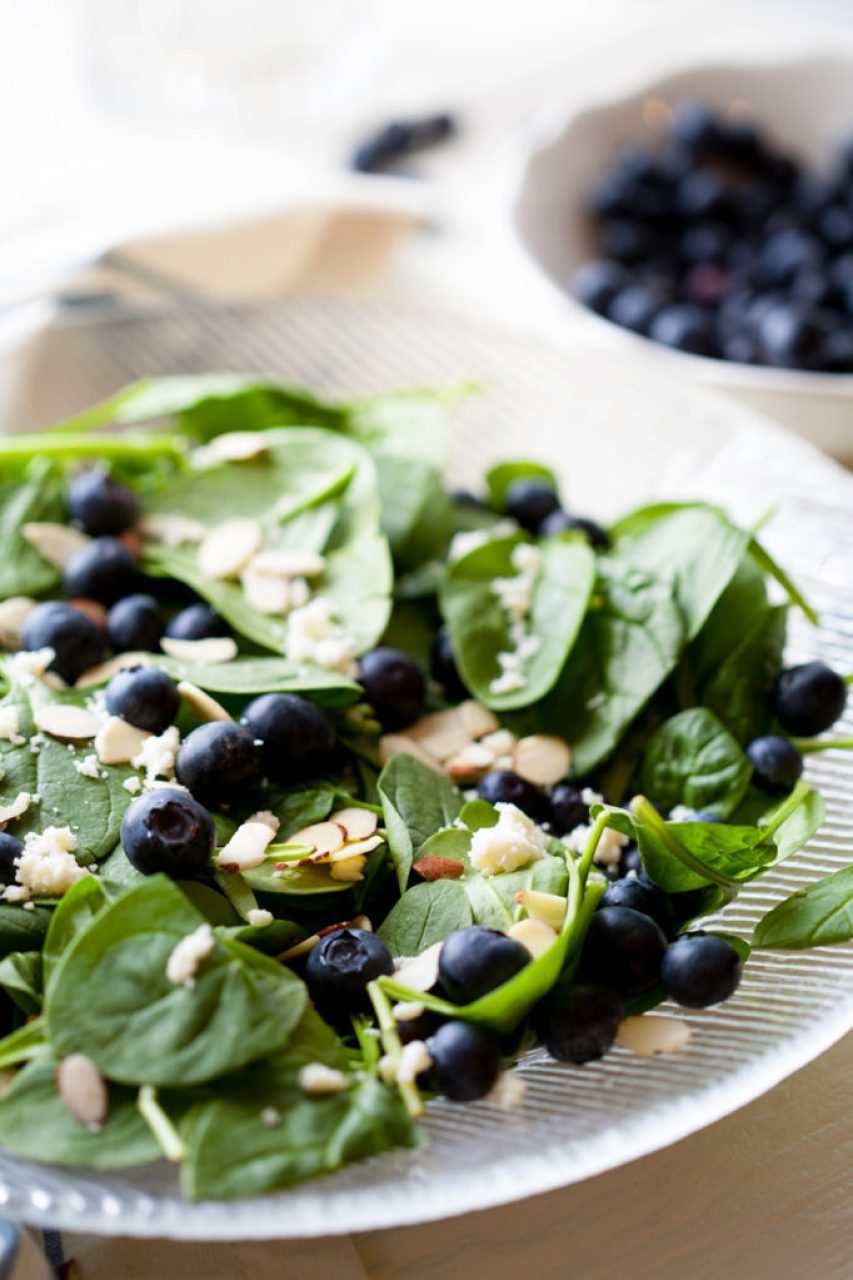Spinach Blueberry Salad with Poppy Seed Dressing