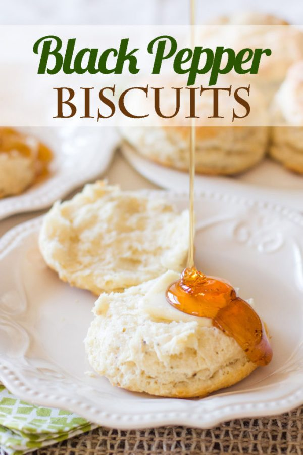 These Black Pepper Biscuits made with freshly-ground black pepper are the best biscuits you will ever eat! Way better than Kentucky Fried Chicken!
