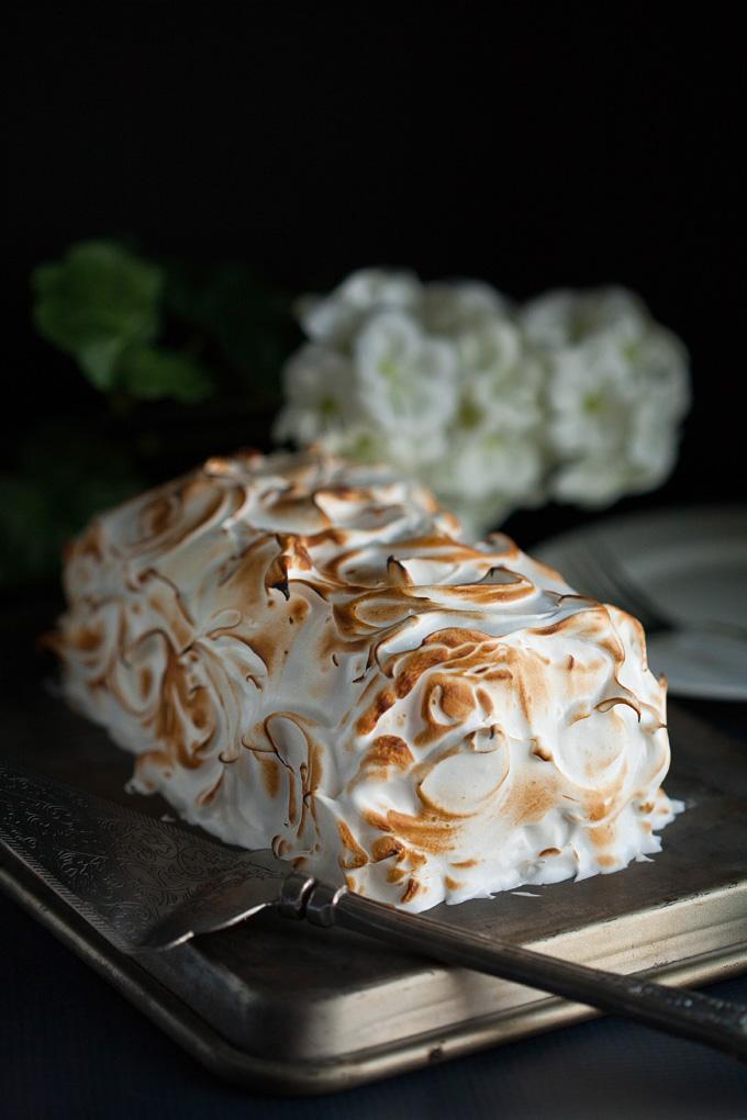 Easy Baked Alaska. The best Valentine's Day dessert!