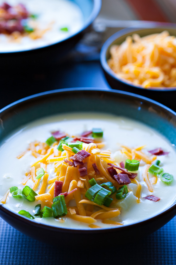 Loaded Creamy Potato Soup by Ice Cream and Inspiration