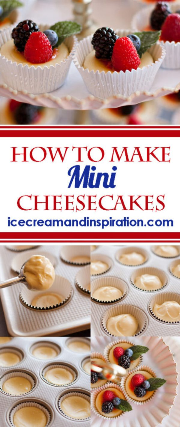 How to Make Mini Cheesecakes. Follow this easy step-by-step recipe to make the perfect dessert for any occasion!