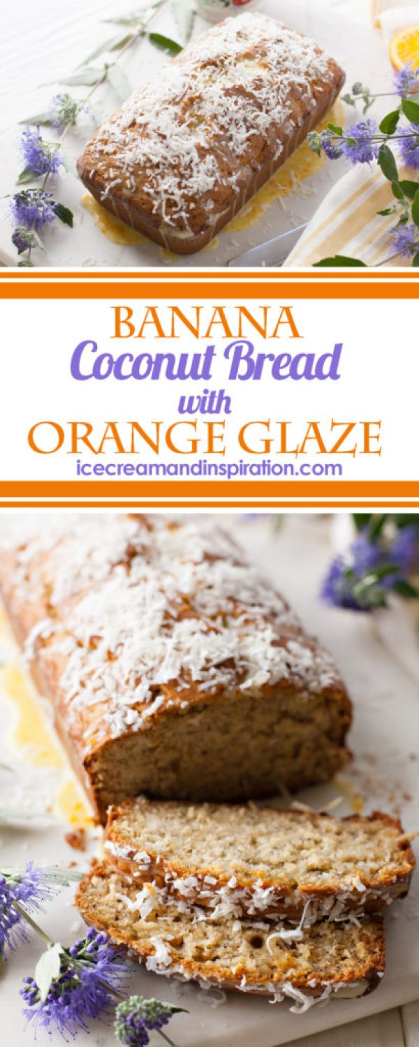 Make this tropical twist on a classic! Banana Coconut Bread with Orange Glaze is moist, sweet, tender, and full of flavor! Perfect for any springtime menu!