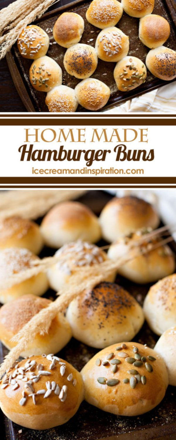 """Home Made Hamburger Buns. Let me tell you, these buns are so soft and delicious, yet firm enough to support a burger. They're not like those super cheap buns that disintegrate after five minutes and can't handle a little ketchup. (I know we've all experienced """"bun failure."""") So the next time..."""