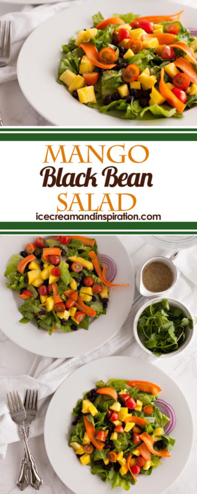 Looking for black bean recipes? You've found a great one here with this Mango Black Bean Salad. Full of color and nutrition, this delicious salad with a light vinaigrette is perfect for a summer meal!