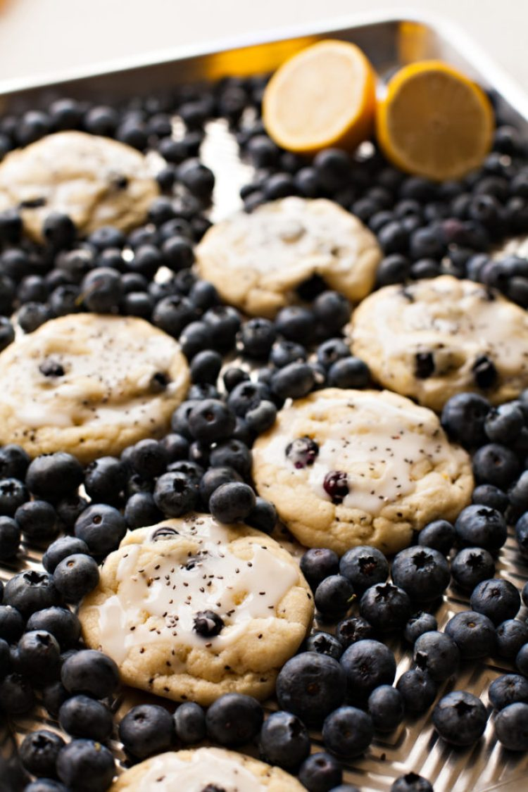 Lemon Blueberry Chia Cookies. Packed with super foods and super flavor!