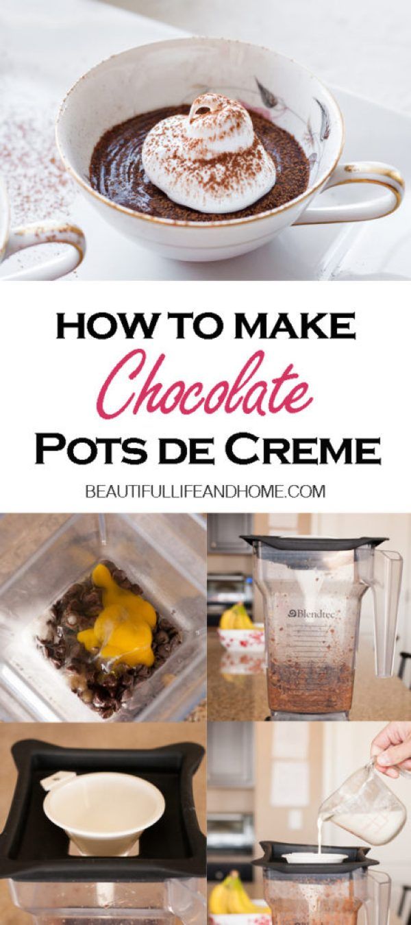 How to make Chocolate Pots de Creme. No bake, and super easy in your blender!