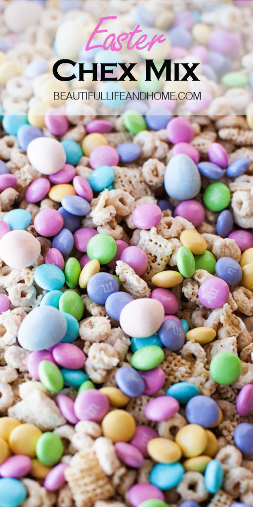 Make this super easy, no-bake Easter Chex Mix today! The perfect treat for Easter and spring!