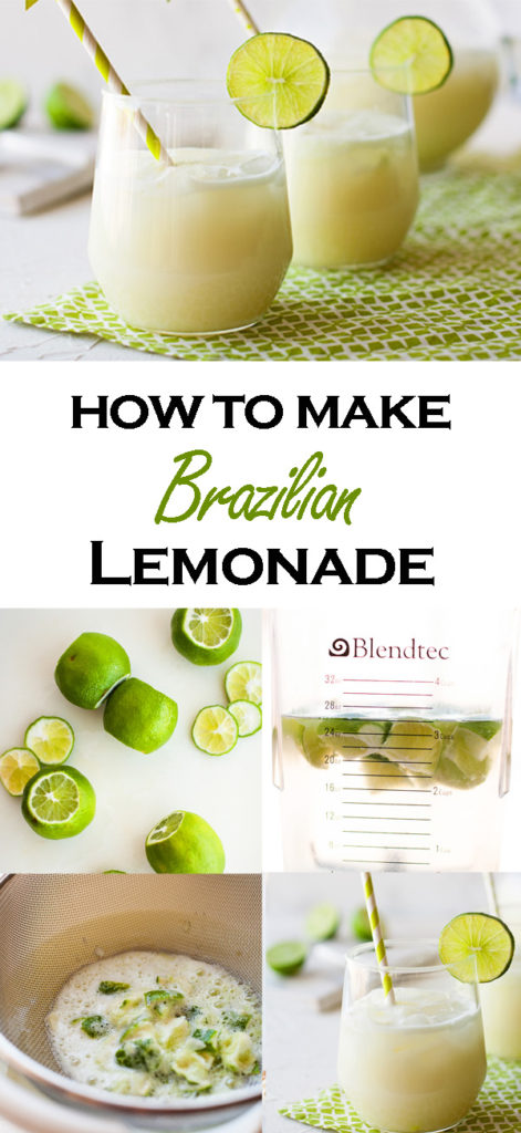 Here's how you make Brazilian Lemonade! Surprise! It uses limes! Read my post/tutorial to find out why, and then make this classic Brazilian drink! Perfect for summer parties!
