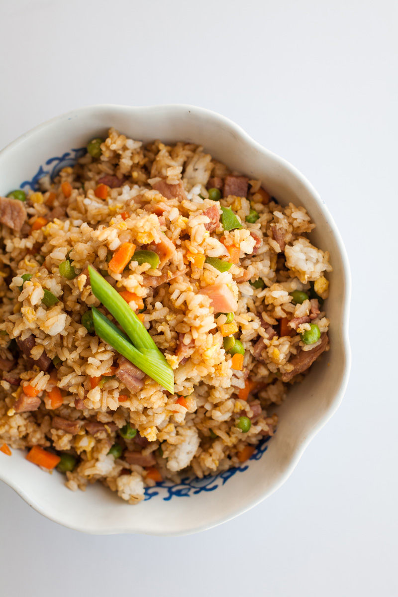 Easy Chinese fried rice recipe.