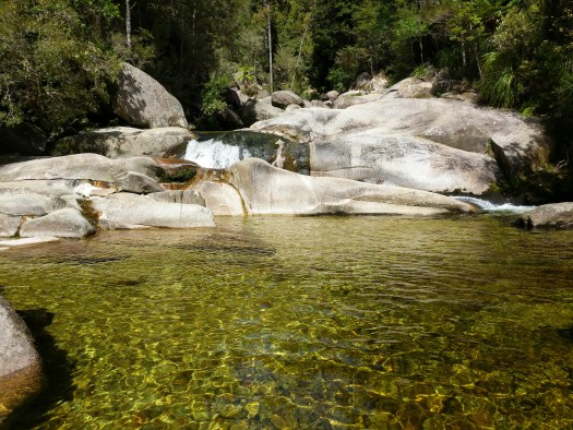 Cleopatra Pools in Abel Tasman National Park New Zealand