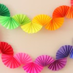 Rainbow Fan Garland Easy Diy Party Decoration Ice Cream Off Paper Plates