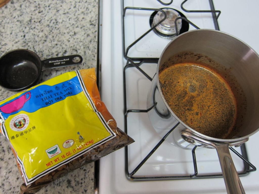 Prepackaged dry thai iced tea