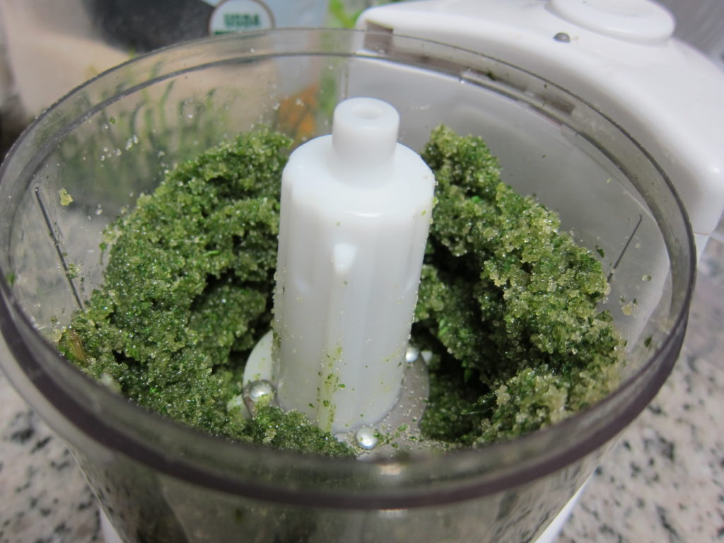 Making mint sugar