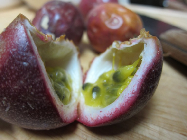 Opened passionfruit