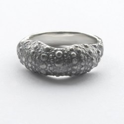 sterling silver sea urchin ring slow jewellery made locally and sustainably