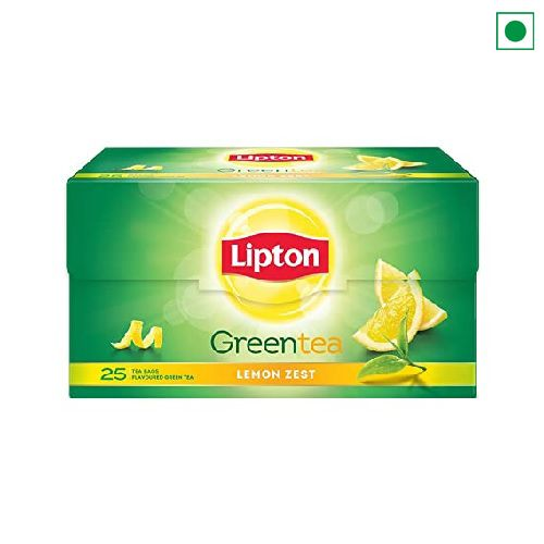 LIPTON GREEN LEMON ZEST 25 TEA BAGS