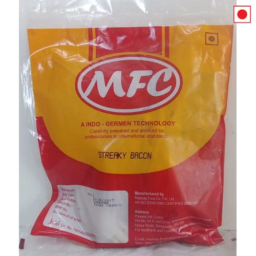 MFC PORK STREAKY BACON 500GM