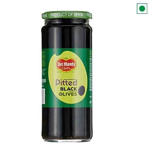 DELMONTE OLIVE BLACK PITTED 450g