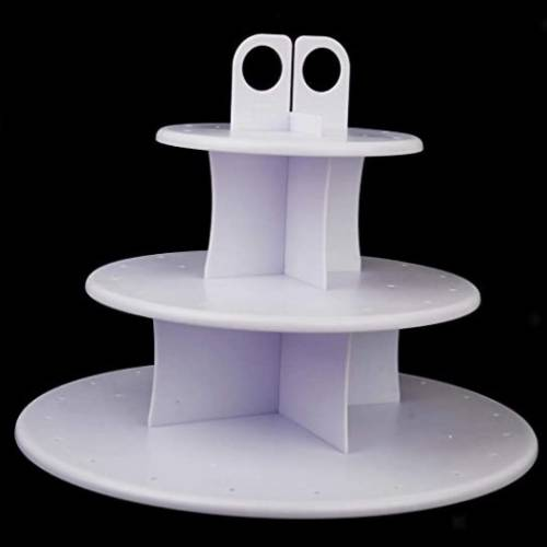 3 TIER PLASTIC CAKEPOP AND CUPCAKE STAND