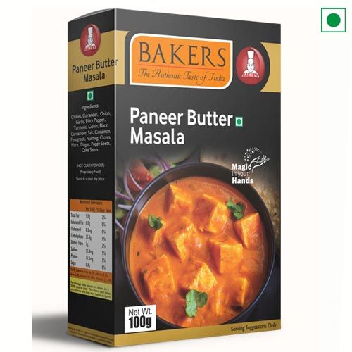 BAKERS PANEER BUTTER MASALA 100GM