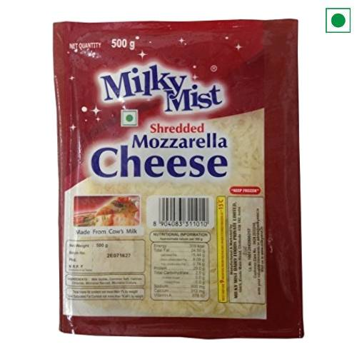 MILKYMIST SHREDDED MOZZARELLA CHEESE 500GM