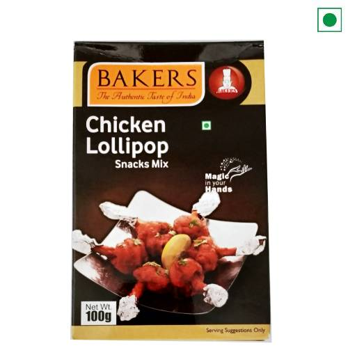 BAKERS CHICKEN LOLLIPOP MASALA 100GM