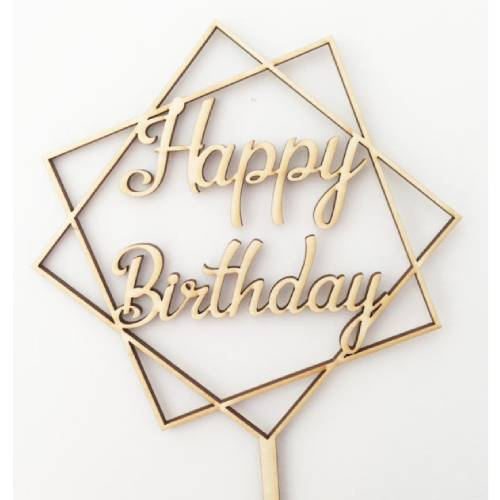 FANCY CAKE TOPPER HAPPY BIRTHDAY