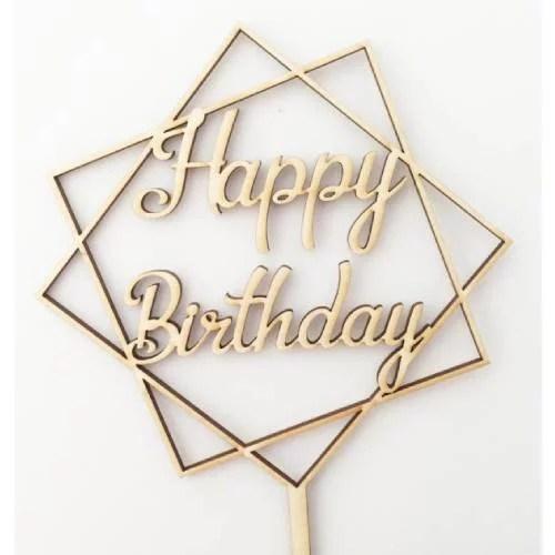 FANCY CAKE TOPPER HAPPY BIRTHDAY