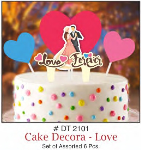 CAKE DECORA LOVE THEME SET OF 6 PIECE