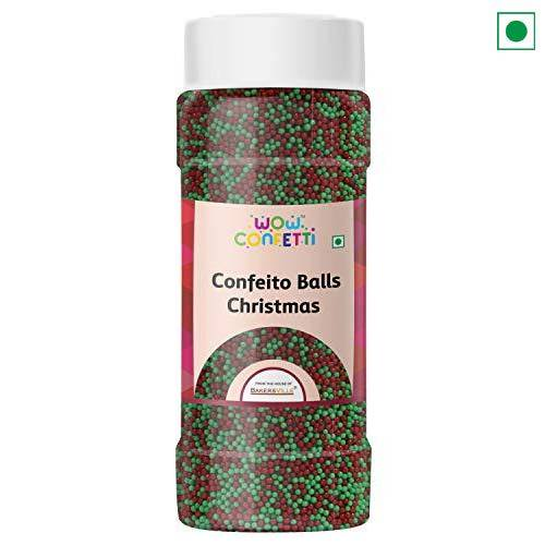 SUGAR SPRINKLES CONFEITO BALLS CHRISTMAS 25GM