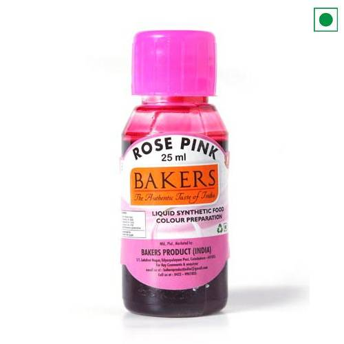 BAKERS LIQUID FOOD COLOUR ROSE PINK 25ML
