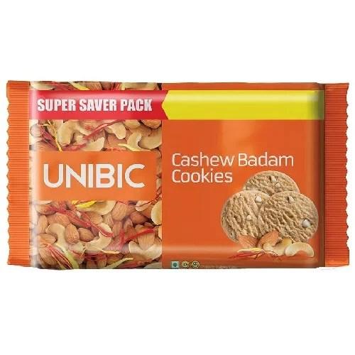 UNIBIC CASHEW BADAM COOKIES / BISCUIT 300g 50% DISCOUNT