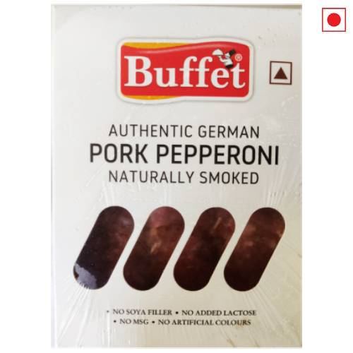 BUFFET AUTHENTIC GERMAN PORK PEPPERONI NATURALLY SMOKED 150g
