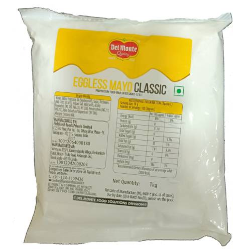 DELMONTE CLASSIC EGGLESS MAYONNAISE 35% FAT 1kg