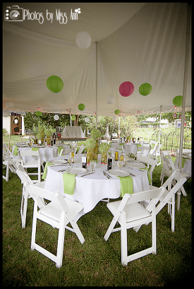 20x30 Pole Tent Event Decorations 30th Birthday Outside Plymouth Michigan
