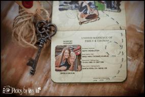 Destination Wedding Iceland Passport Wedding Invitation by Atlas Artistry