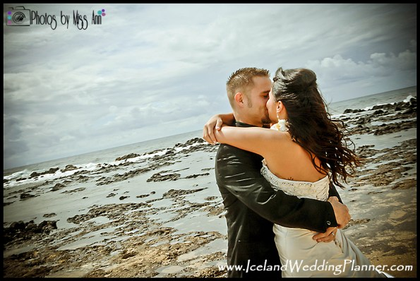 Iceland Beach Wedding Lava Rock Beach Wedding Iceland Photos by Miss Ann