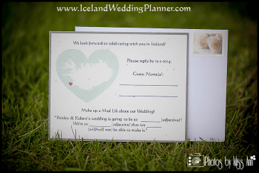 Iceland Destination Wedding Invitation RSVP Card Unique Mad Lib Reply Card Iceland Wedding Planner