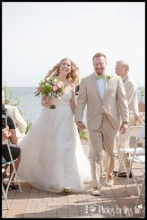 End of Ceremony Excitement Infinity Yacht Wedding Michigan