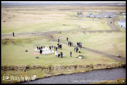 Seljalandsfoss Wedding Setup American Couple Weds in Iceland Ann and Chris Peters