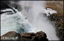 Cavern in Gullfoss Waterfall Iceland Wedding Planner
